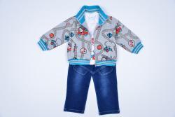 костюм для мальчика с джинсами